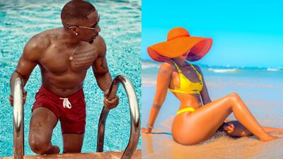 Juma Jux out here salivating over Huddah Monroe's steamy Bikini photos