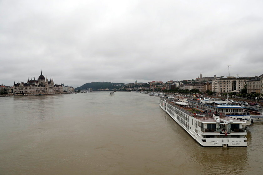 A river cruise boat is seen on the Danube river in Budapest