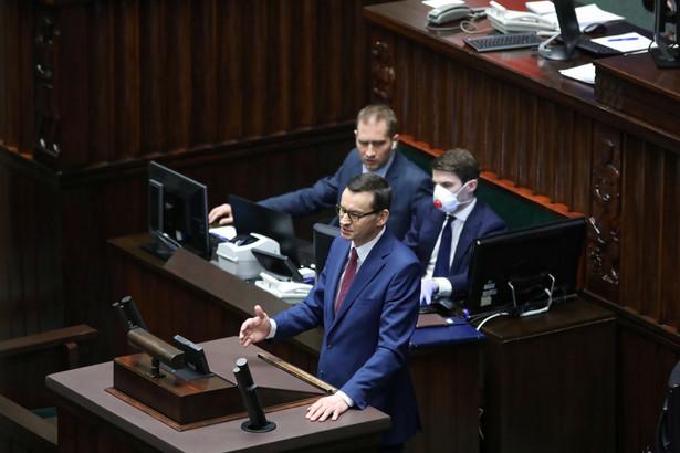 Mateusz Morawiecki zabrał głos, prezentując założenia tzw. tarczy antykryzysowej