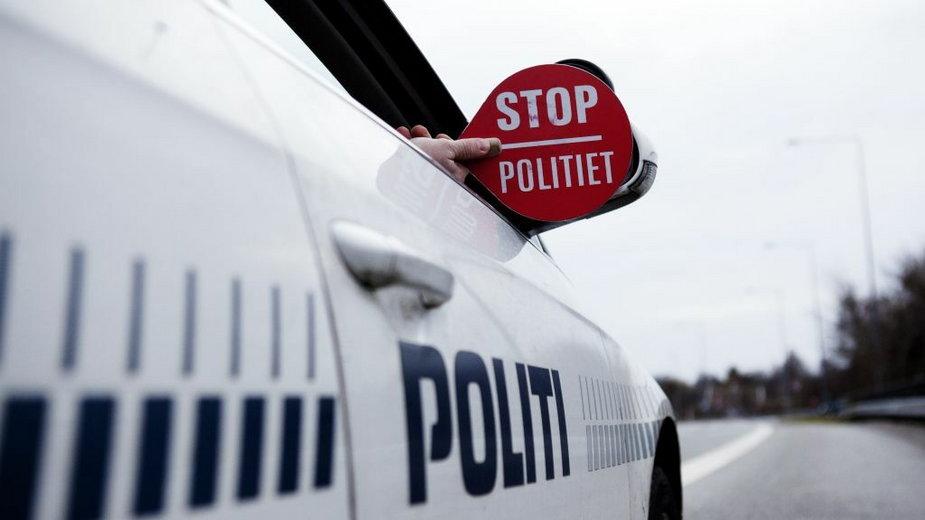 Kontrola duńskiej policji. Fot. Politi