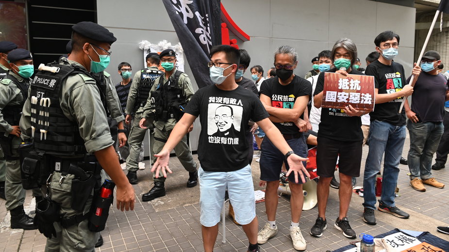 Prodemokratyczny protest w Hongkongu