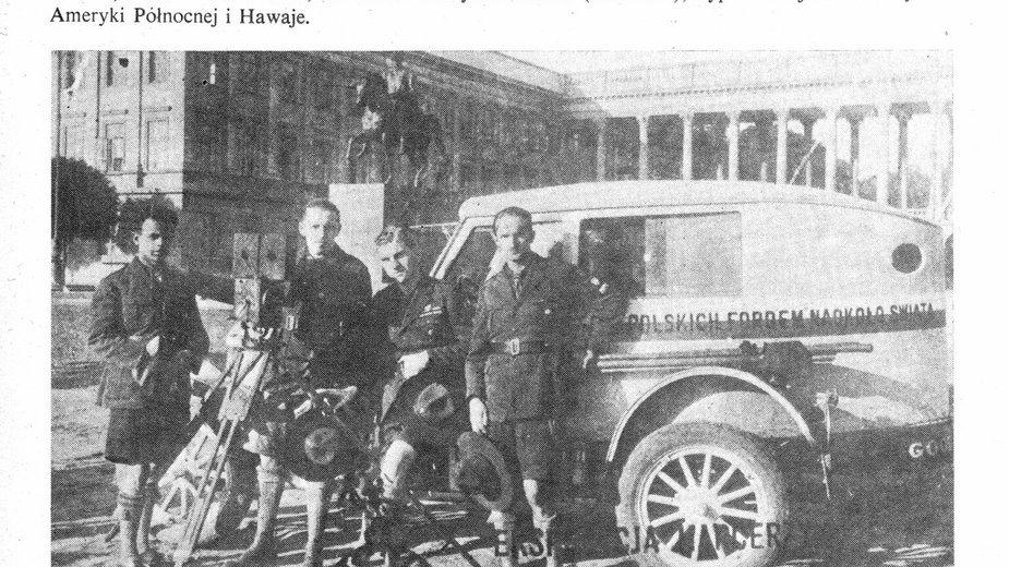 Jerzy Jeliński z towarzyszami wyprawy
