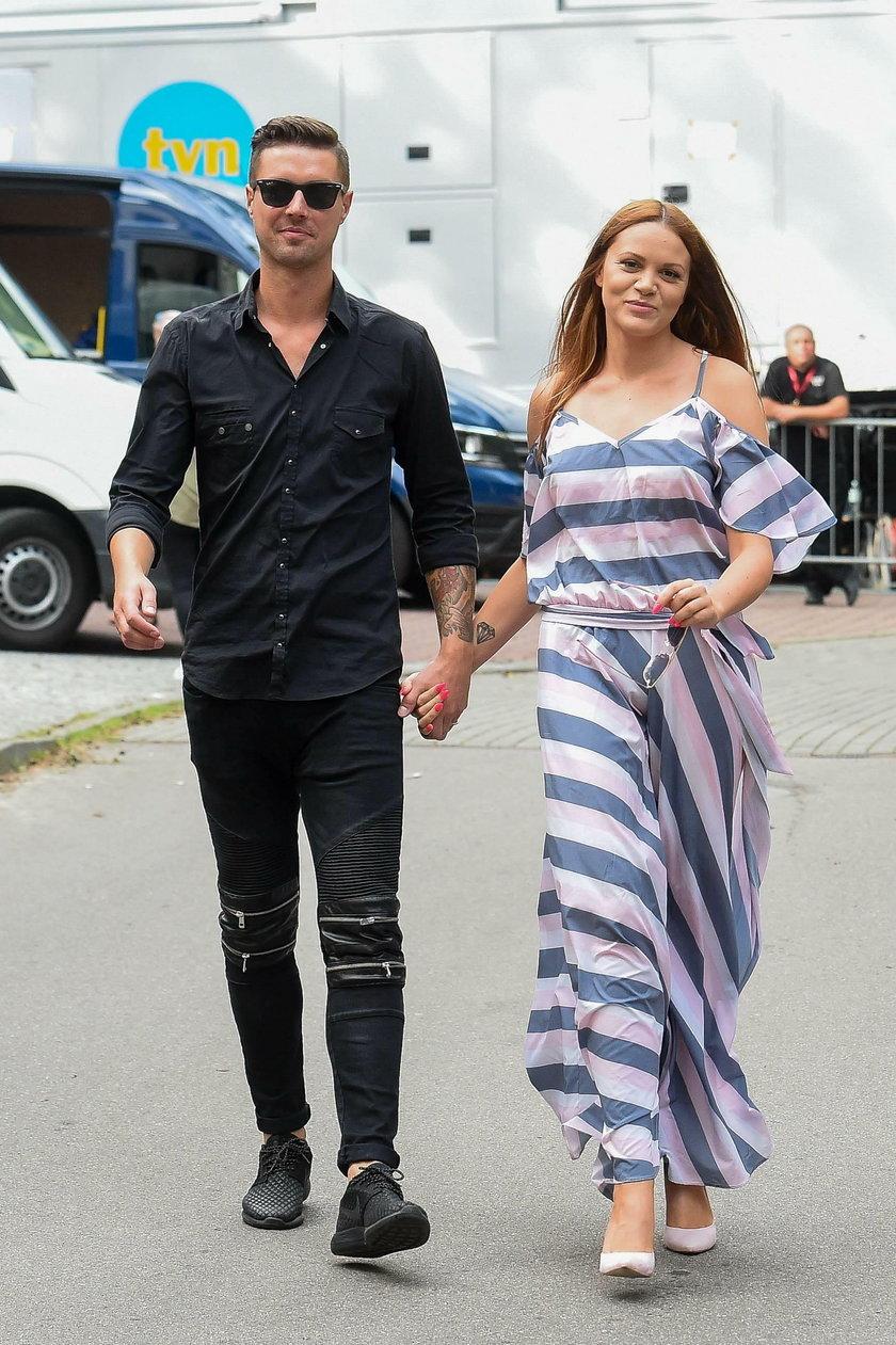 Dominika Gawęda z mężem