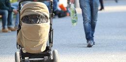 Zbyt pijany, by wjechać wózkiem na chodnik