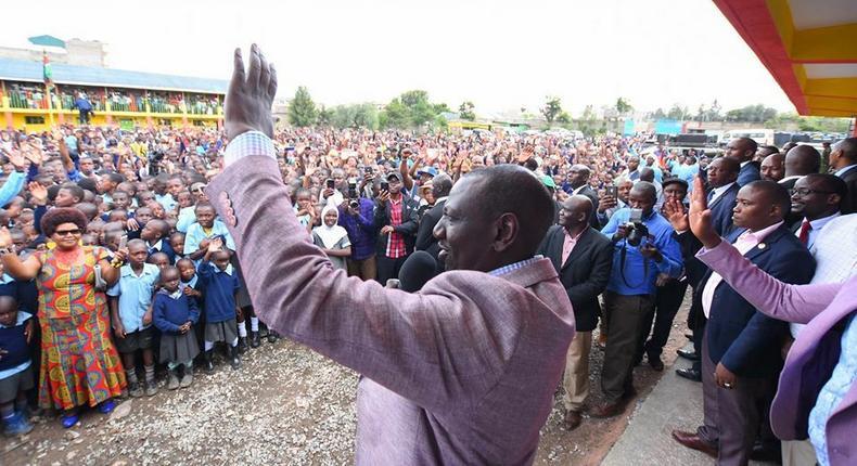 DP William Ruto criticized for attacking Raila at children's school parade