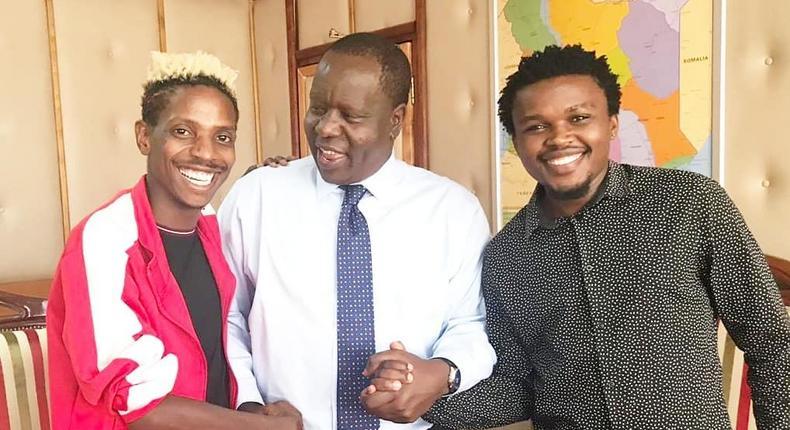 Eric Omondi, Chipukeezy and Fred Matiangi