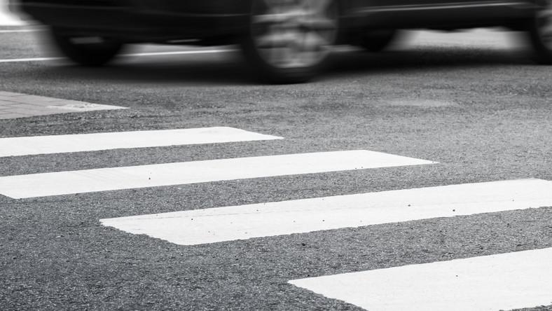 Przejście dla pieszych wypadek