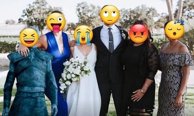 Beli hodač na venčanju