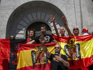 Spanish Far Right Supporters Gather Against The Removal of Franco's Remains From The Valley of Falle