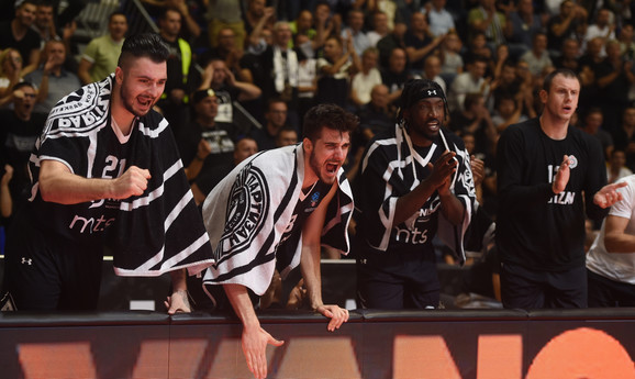 Detalj sa meča Partizan - Lokomotiva