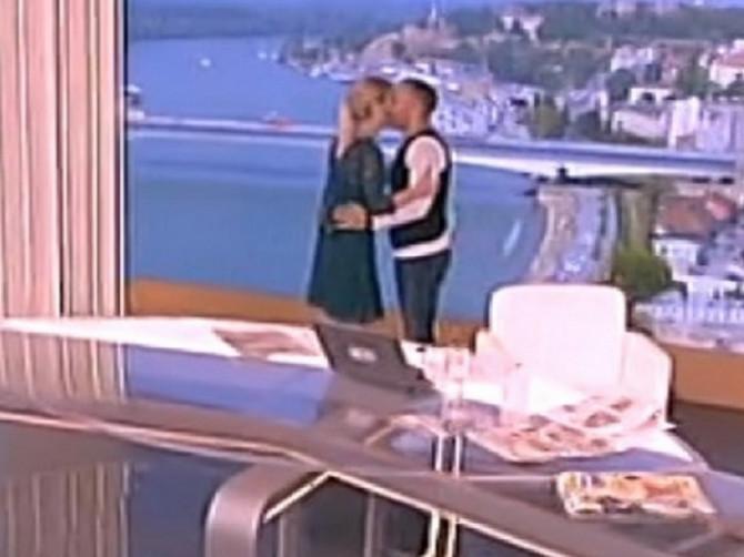 Srdačan susret Nataše Miljković i Srđana Timatova jutros na malim ekranima