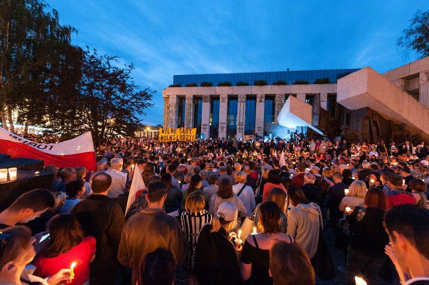 Protest w obronie Sądu Najwyższego