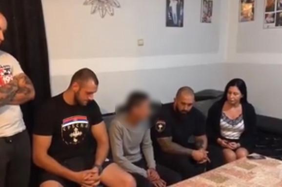 """SAZNAJEMO Saslušani članovi """"Srbske časti"""" koji su UZELI ZAKON U SVOJE RUKE i upali u kuću mladića koji je tukao konja"""