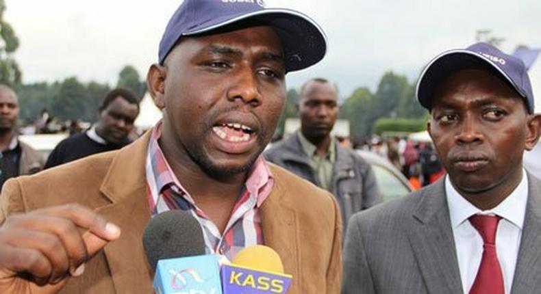 File image of Elgeyo Marakwet Senator Kipchumba Murkomen (L) and Kapseret MP Oscar Sudi