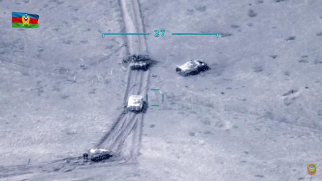 Jermenijski tenkovi u regionu Nagorno-Karabah, na granici s Azerbejdžanom