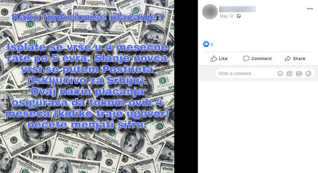 Isplata u četiri jednake rate