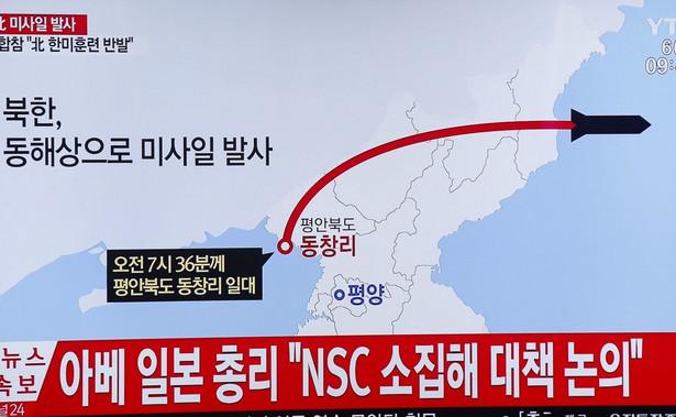 """Korea Północna ogłosiła we wtorek, że przperowadziła pierwszy """"udany"""" test międzykontynentalnego pocisku balistycznego (ICBM)"""