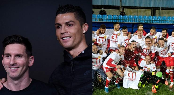 Mesi Ronaldo Crvena zvezda