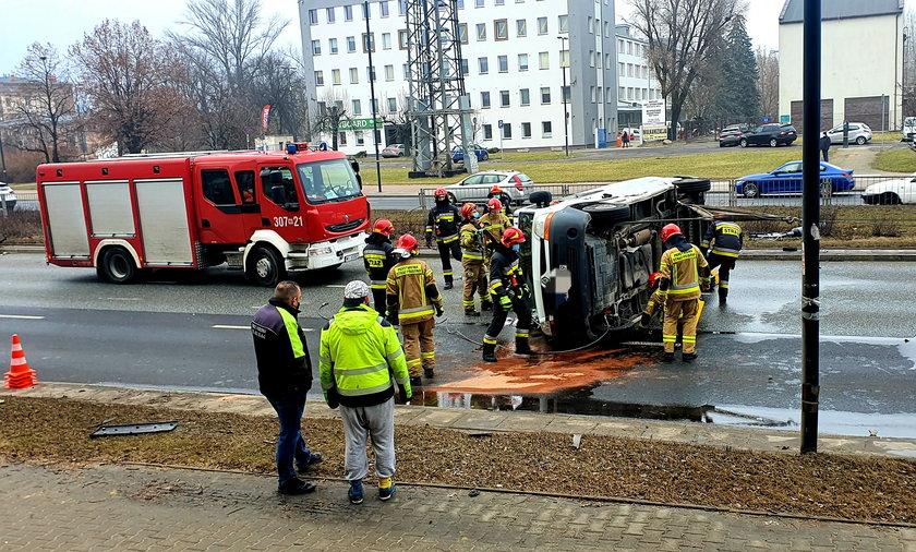 Groźny wypadek w Warszawie.