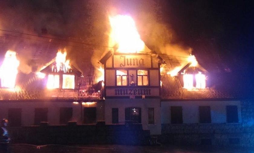 Pożar Muzeum Ziemi w Szklarskiej Porębie