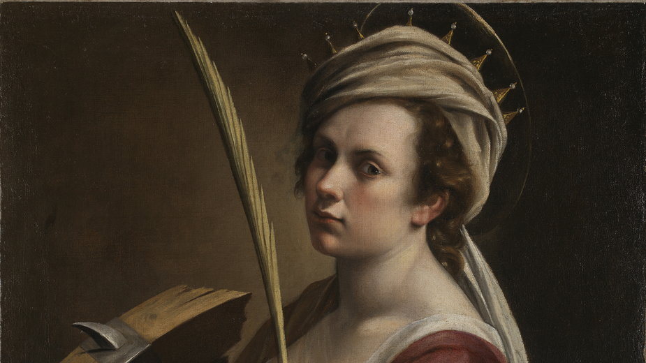 """Artemisia Gentileschi, """"Self Portrait as Saint Catherine of Alexandria"""" (""""Autoportret jako św. Katarzyna Aleksandryjska"""", ok. 1615-17)"""