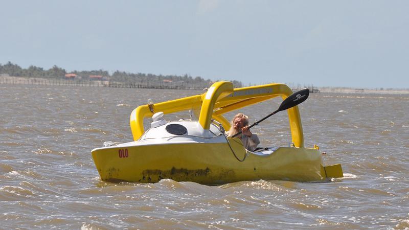 Aleksander Doba przed lądowaniem w Brazylii, 03.02.2011