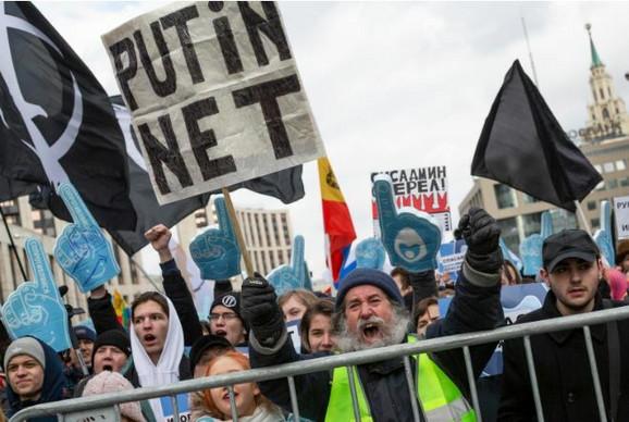 Rusi su protestovali zbog najave novog zakona