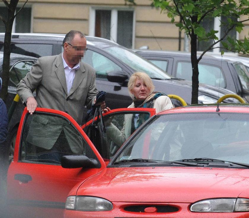 Beata Sawicka z mężem
