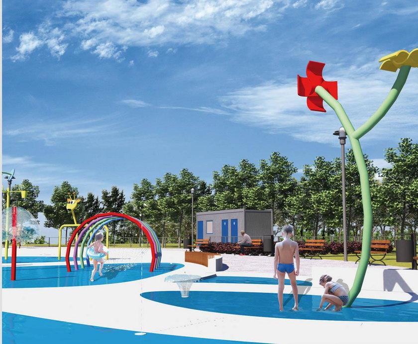 Wodny plac zabaw w Katowicach