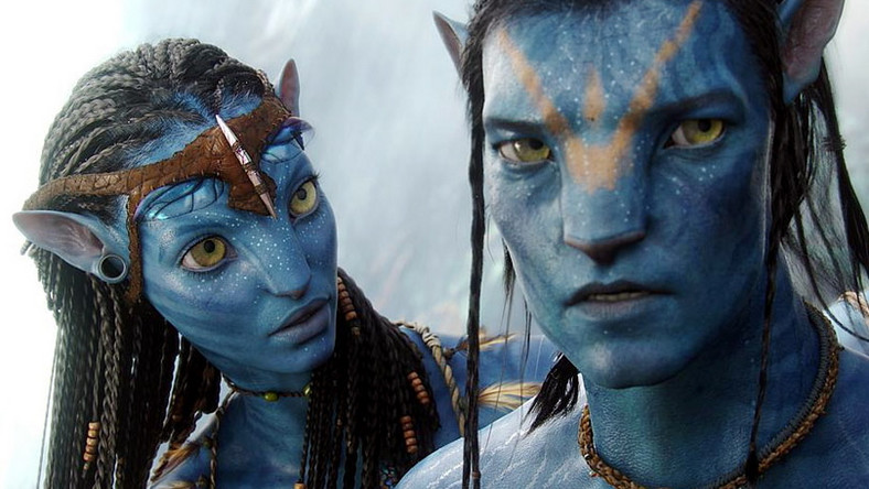 "Zoe Saldana i Sam Worthington w filmie ""Avatar"" Jamesa Camerona"