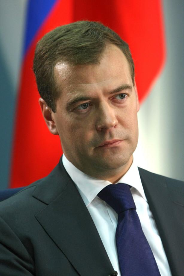 Prezydent Rosji Dmitrij Miedwiediew. Fot. Bloomberg