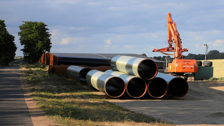 Niemcy, okolice Pasewalk. Budowa gazociągu EUGAL, przedłużenia Nord Stream 2
