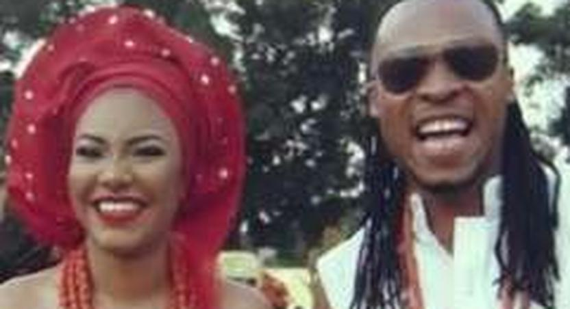 Flavour and Anna Banner, the mother of his second child.