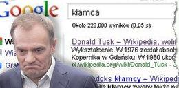 """Hasło """"kłamca"""" wiedzie do Tuska"""