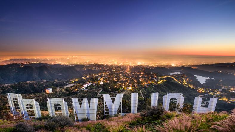 Napis Hollywood nad Los Angeles