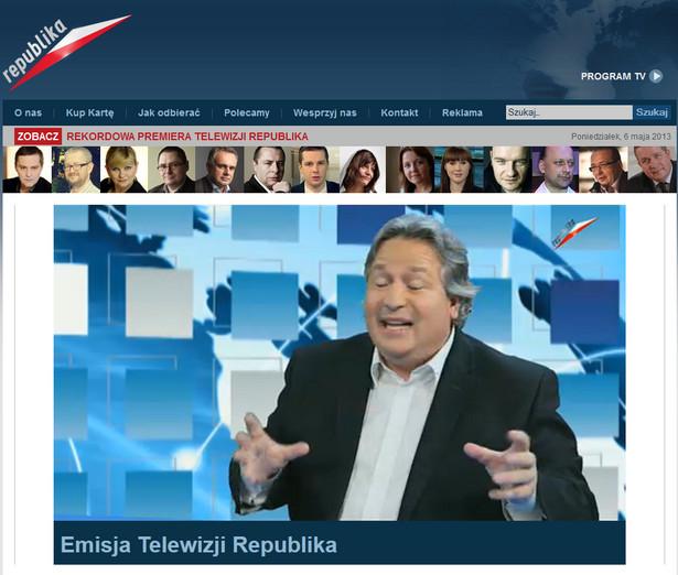 Telewizja Republika (fot. screen www.telewizjarepublika.pl)