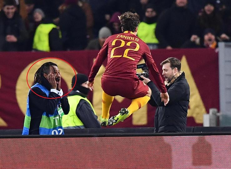 Navijač Rome, Zaniolo gol, FK Roma