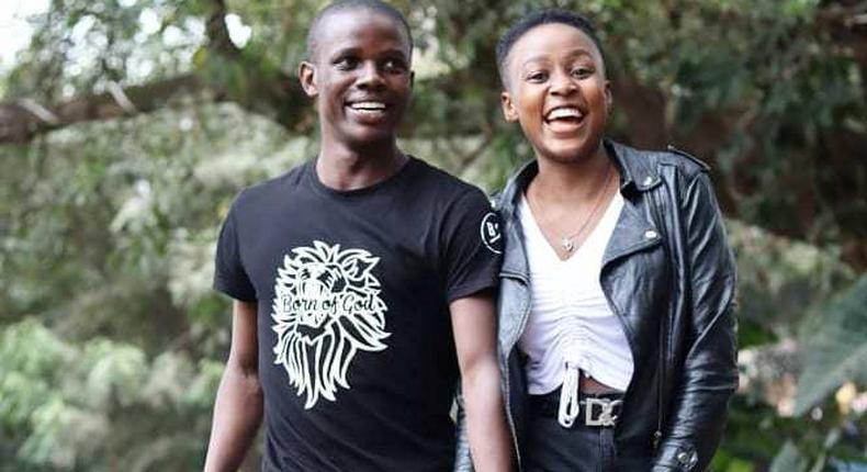 Crazy Kennar with his girlfriend Natalie Asewe