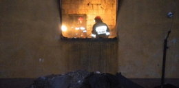 Pożar budynku socjalnego. Cztery osoby w szpitalu