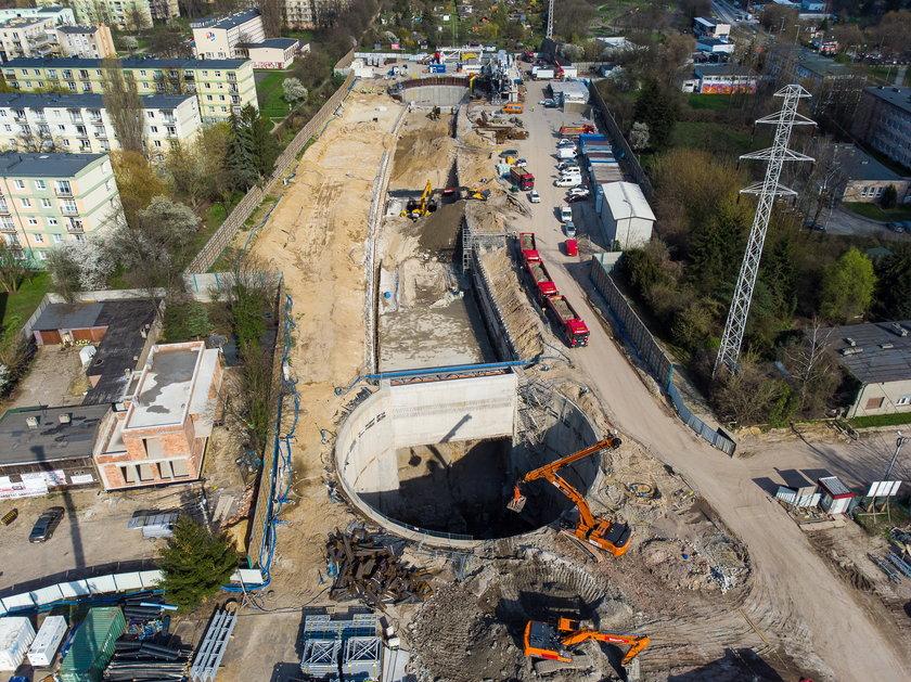 Drążenie tunelu w kierunku przystanku Polesie i Śródmieście