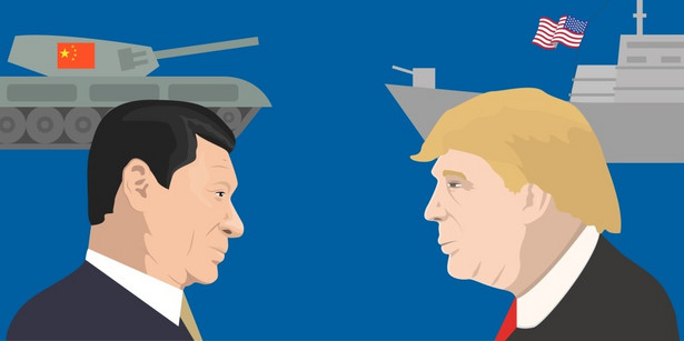 Donald Trump i Xi Jinping USA Chiny Fot. vector_brothers