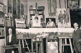 Uros Predic u svom beogradskom ateljeu