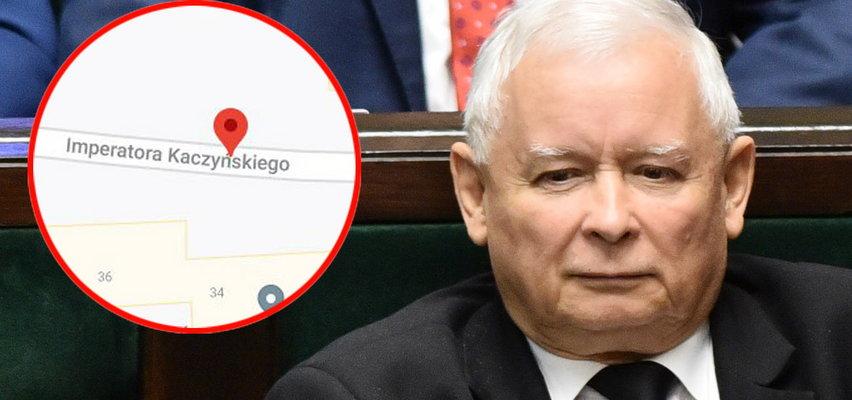 Ewenement w Pyskowicach! Zdaniem Google Maps jest tam ulica Imperatora Kaczyńskiego