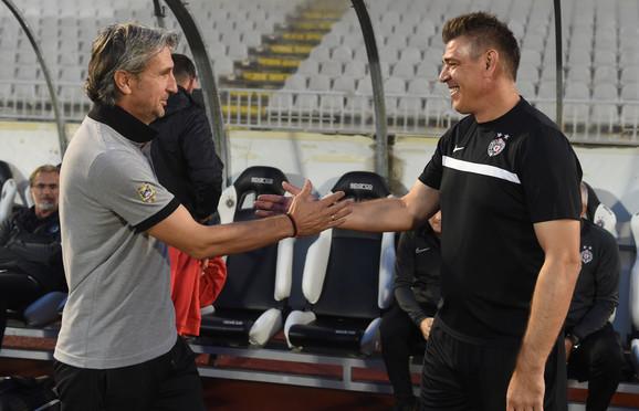 Pozdrav velikih prijatelja, sada trenera Mačve i Partizana - Darko Tešović i Savo Milošević