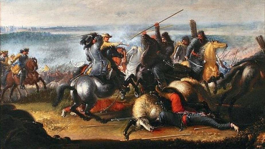 Utarczka Karola X Gustawa z Tatarami polskimi w bitwie pod Warszawą, 29 lipca 1656 r, Johan Filip Lemke, domena publiczna