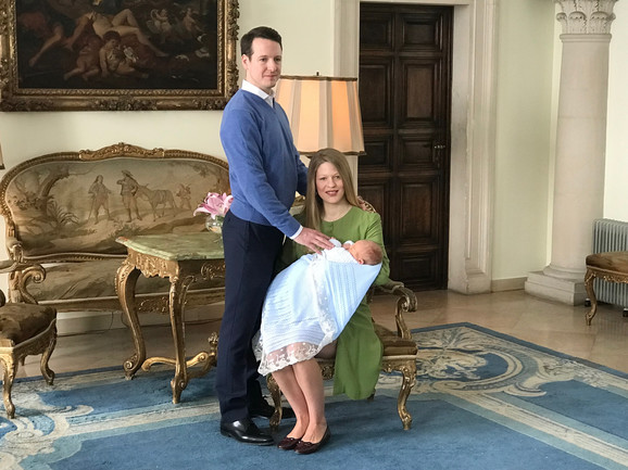 Princ Filip i princeza Danica Karađorđević sa Stefanom
