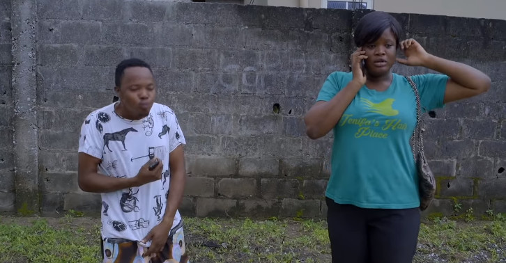 Pauline and Olamilekan are inching to become an item in Aiyetoro. [YouTube/SceneOne TV]