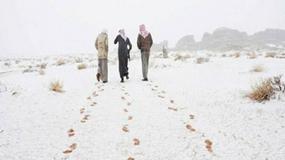 Arabia Saudyjska pokryła się śniegiem
