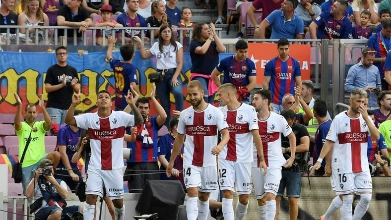 After Cucho Hernandez gave Huesca a third-minute goal at the Nou Camp, Barcelona replied with eight. This weekend La Liga's bottom club hosts Real Madrid