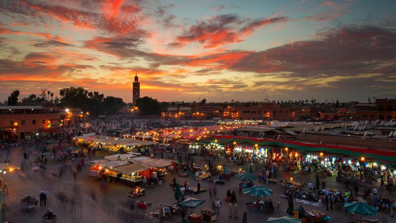 Jamaa el Fna, Marrakesz
